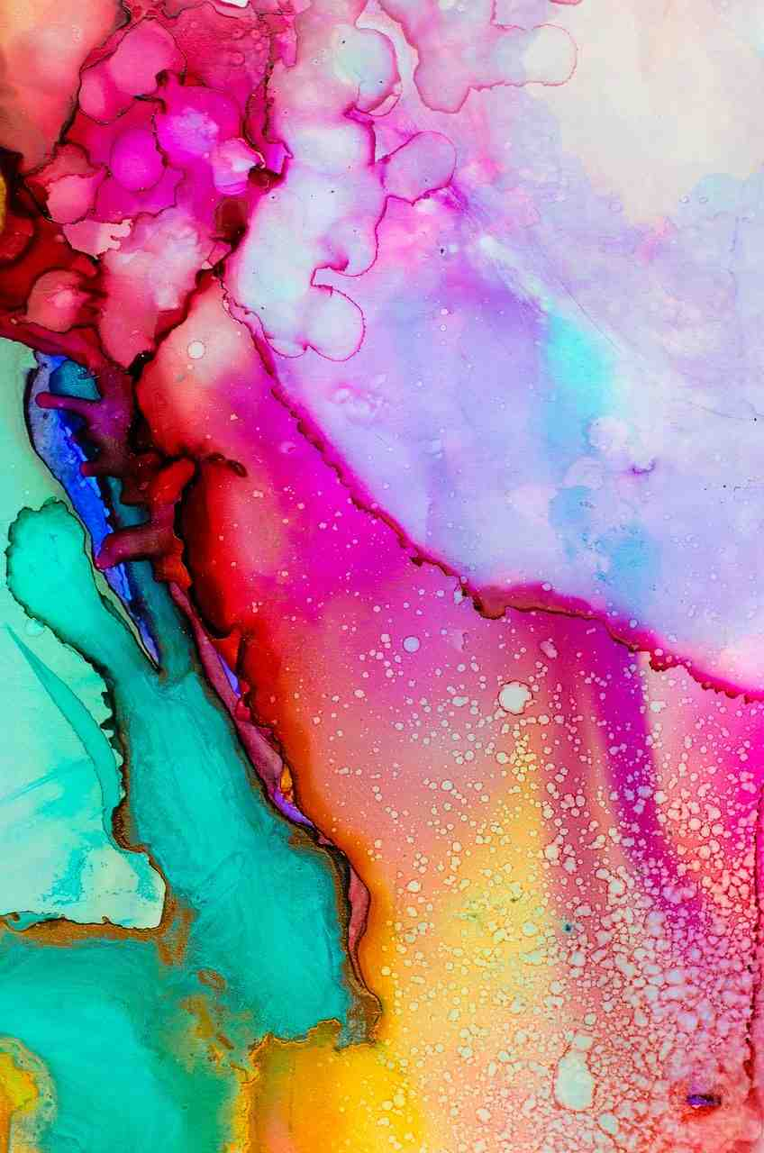 art, aquarelle, couleur